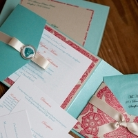Ceremony, Reception, Flowers & Decor, Stationery, red, blue, invitation, Glam Wedding Invitations, Vintage Wedding Invitations, Invitations, Wedding, In, Lake, Pets, Impress me designs