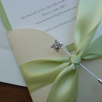 Inspiration, Jewelry, Stationery, white, green, silver, Brooches, Invitations, Board, Crystal, Satin, Brooch, Pin, Impress me designs