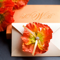 Flowers & Decor, Stationery, white, yellow, orange, green, Invitations, Flowers, Flower, Crystal, Silk, Impress me designs