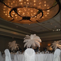 Beauty, Reception, Flowers & Decor, white, green, Feathers, Centerpieces, Feather, Silva designs