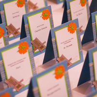 Reception, Flowers & Decor, Stationery, yellow, orange, blue, Invitations, Escort Cards, Cards, Escort, Place, Seating, Impress me designs