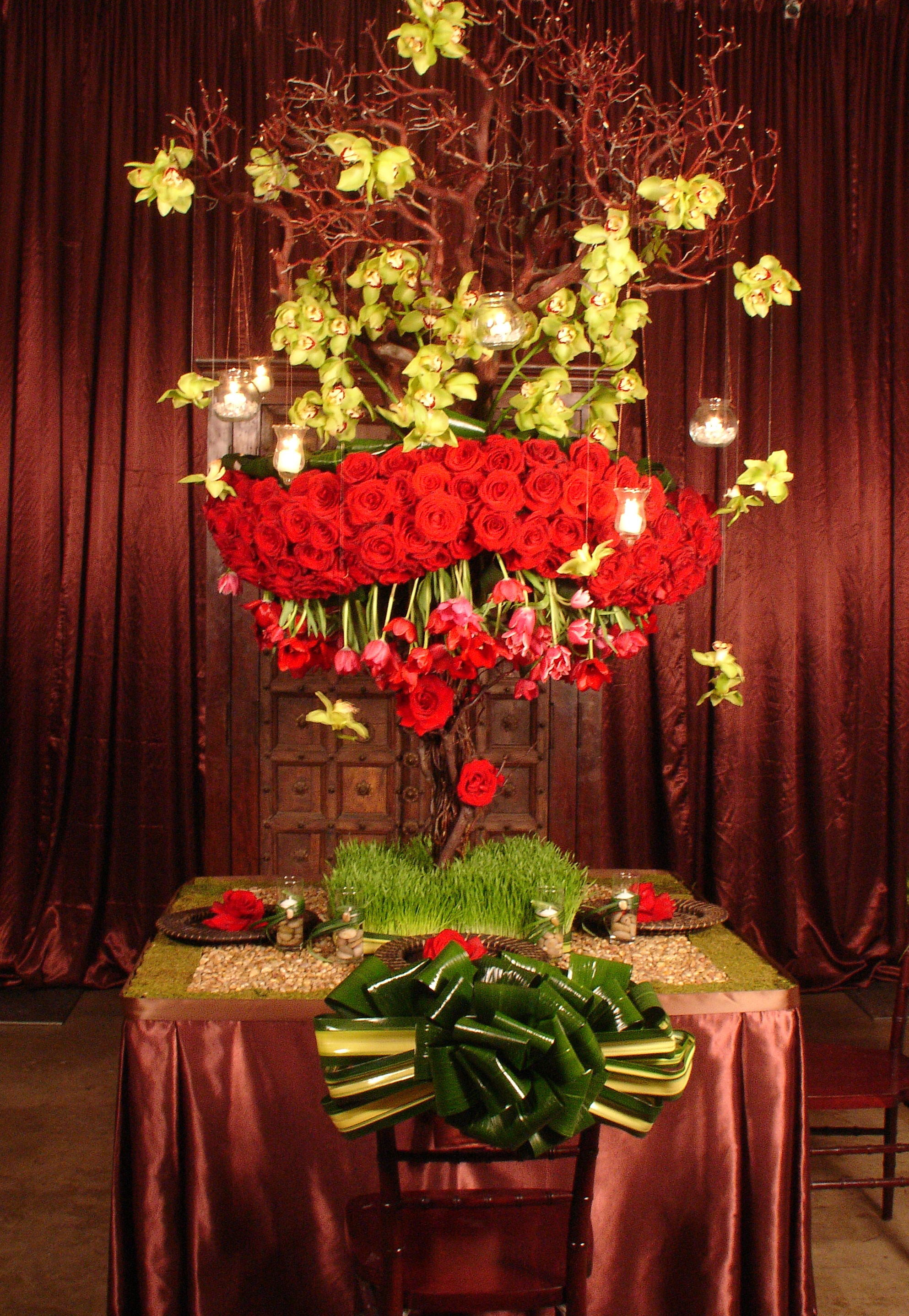 Flowers & Decor, red, Flowers, Beverly, Weiss, Wilshire, Regent, Mindy, Shirvan design - haute events and florals
