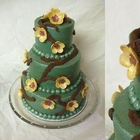Inspiration, Flowers & Decor, Cakes, green, cake, Flowers, Bridal, Board, Shower, Sage, Rock star confections