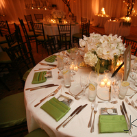 Reception, Flowers & Decor, white, green, Table, Linens, Fusion linens