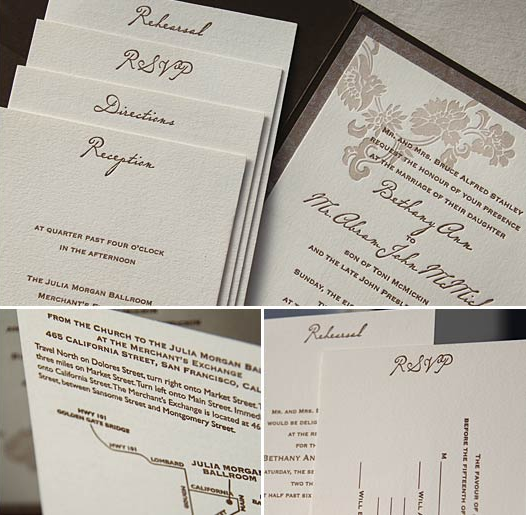 Stationery, brown, silver, Invitations, Floral, Folio, Kavamore press