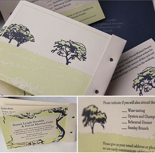 Stationery, blue, green, Invitations, Tree, Landscape, Kavamore press