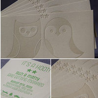 Stationery, green, brown, Modern, Invitations, Save-the-Dates, Modern wedding invitation, Owl, Kavamore press