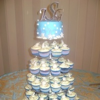 Cakes, blue, cake, Cupcakes, Candy, Seashell, Delectable delights by debbie