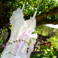 Ceremony, Flowers & Decor, Wedding Dresses, Fashion, white, purple, green, dress, Evidence photography and design