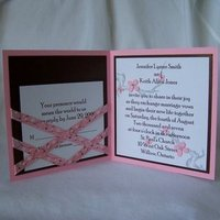 Flowers & Decor, Stationery, white, pink, brown, invitation, Invitations, Flowers, Wedding, Enchanted moments - invitations cards