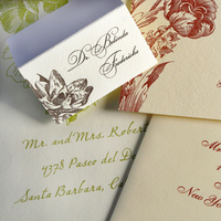 Stationery, Invitations, Place Cards, Envelope addressing
