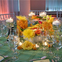 Reception, Flowers & Decor, yellow, orange, pink, green, Flowers, Wedding, Hawaiian, Kate, My, Parker, My kate parker wedding