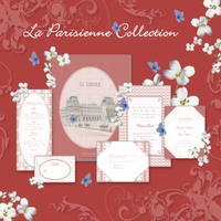 Stationery, pink, red, Invitations, Save-the-Dates, Place Cards, Menu Cards, Thank You Notes, Save the date, Table cards, Thank you card, Wedding invitations, Response cards, Rehersal dinner invitations, Reception cards, Petite marquise