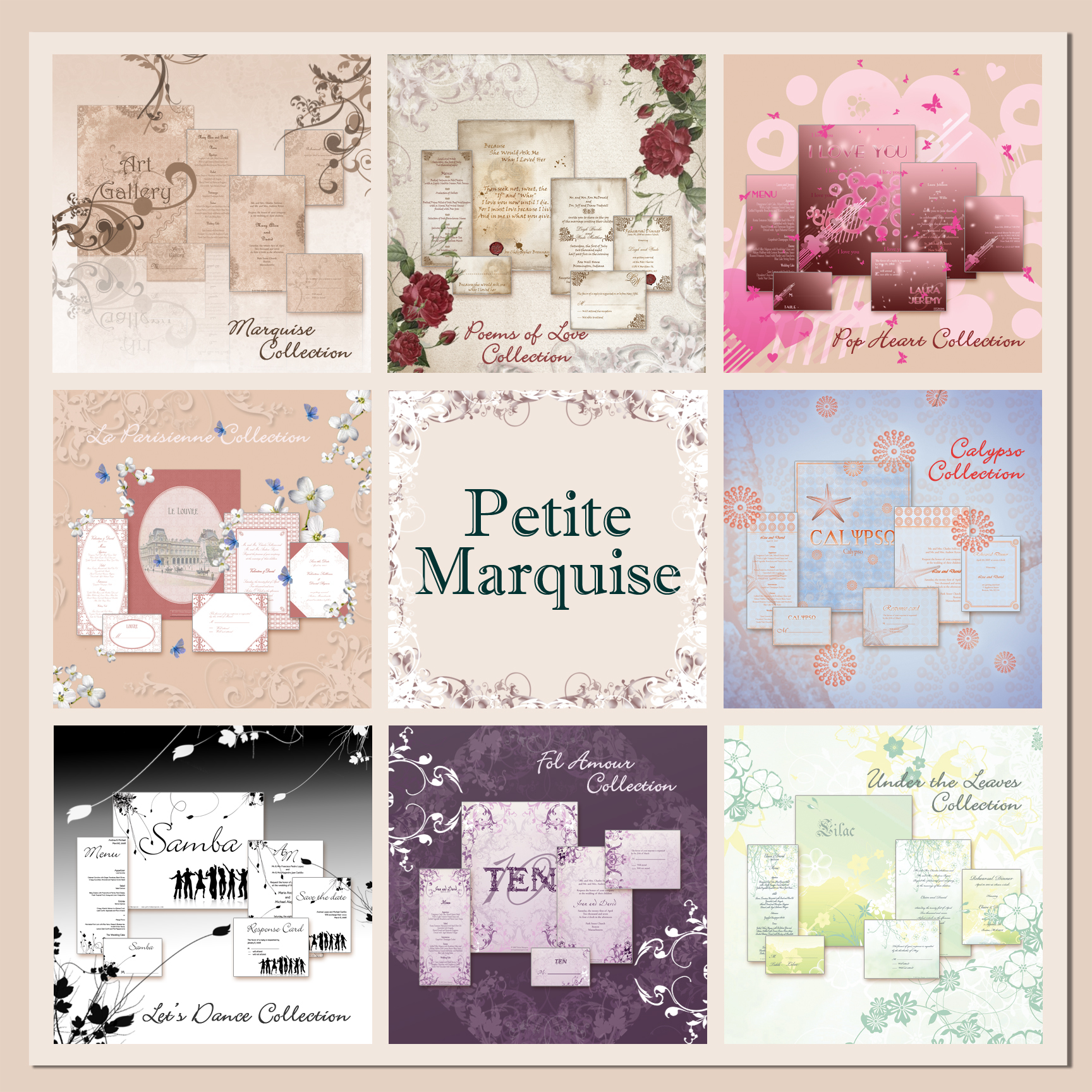 Stationery, Invitations, Save-the-Dates, Place Cards, Menu Cards, Save the date, Thank you cards, Table cards, Wedding invitations, Response cards, Rehersal dinner invitations, Reception cards, Petite marquise
