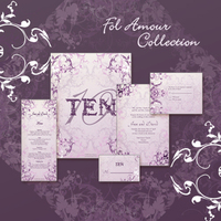 Stationery, purple, Invitations, Save-the-Dates, Place Cards, Menu Cards, Save the date, Thank you cards, Table cards, Wedding invitations, Response cards, Rehersal dinner invitations, Reception cards, Petite marquise