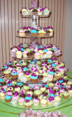 Reception, Flowers & Decor, Cupcakes
