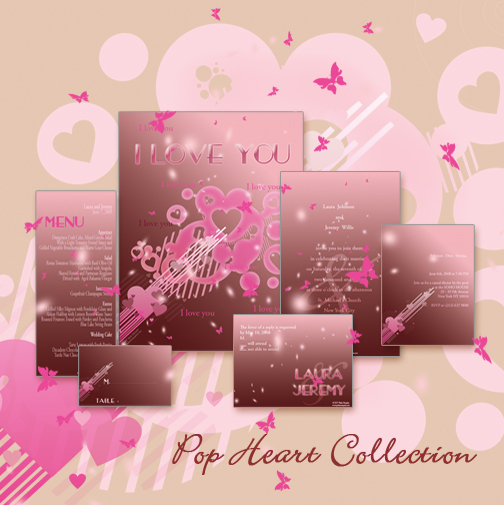 Stationery, pink, red, Invitations, Save-the-Dates, Place Cards, Menu Cards, Save the date, Thank you cards, Table cards, Wedding invitations, Response cards, Rehersal dinner invitations, Reception cards, Petite marquise