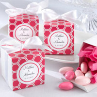 Reception, Flowers & Decor, Favors & Gifts, white, pink, Favors, Wedding, Mirandas favor boutique