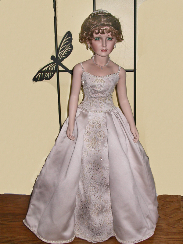 Bride, Gown, Wedding, Design, Original, Damselfly studio, Doll