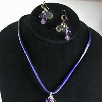 Jewelry, purple, green, silver, Necklaces, Bride, Of, Mother, Necklace, The, Color, Earring, Silk, Mob, Amethyst, Cutom, Gemstone, Damselfly studio, Iolite