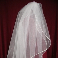 Veils, Fashion, white, ivory, Bride, Veil, Custom, Satin, Headpiece, Diamond, Cord, Tier, Lengths, Candlelight, Two, Damselfly studio, satin wedding dresses
