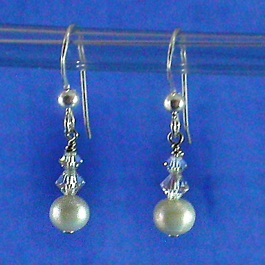 Jewelry, white, yellow, orange, pink, red, purple, blue, green, brown, black, silver, gold, Bride, Bridesmaid, Crystal, Swarovski, Earring, Pearl, Freshwater, Sterling, Damselfly studio