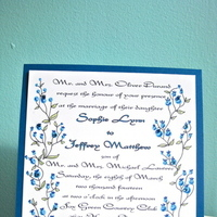 Stationery, blue, invitation, Invitations, Custom, Blueberry, Gems, Jillybean design