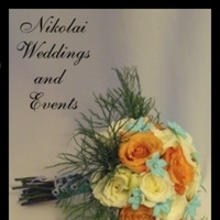 Flowers & Decor, white, ivory, orange, blue, Flowers, Roses, Stephanotis, Tiffany, Nikolai weddings and events