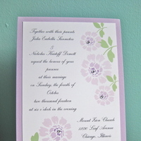 Stationery, pink, invitation, Invitations, Custom, Gems, Jillybean design