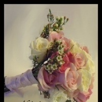Flowers & Decor, white, pink, Bride Bouquets, Flowers, Roses, Bouquet, Light, Nikolai weddings and events