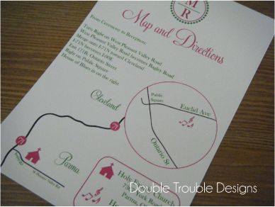 pink, Map, Wedding, Custom, Designs, Double, Double trouble designs-custom monograms and more, Trouble
