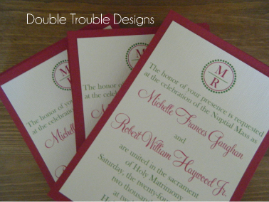 Stationery, pink, invitation, Invitations, Monogram, Card, Invite, Stock, Cardstock, Double trouble designs-custom monograms and more, Backing, Invitation suite, Cardstock backing