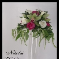 Flowers & Decor, pink, green, Flowers, Calla, Lilies, Orchids, Shells, Fuschia, Nikolai weddings and events