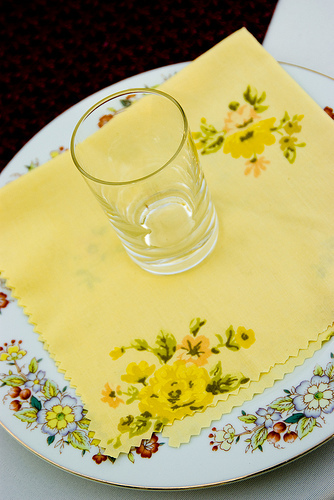 Reception, Flowers & Decor, Registry, yellow, Vintage, Bedding, Napkins, Made, From, Sheets