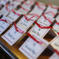 Stationery, Place Cards, Placecards, Red theme, Lamaina events
