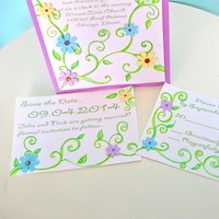 Custom, Hand, Rsvp, The, Save, Date, Made, Jillybean design