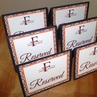 Ceremony, Reception, Flowers & Decor, white, yellow, orange, pink, red, purple, blue, green, brown, black, silver, gold, Chair, Signs, Seating, Reserved, Ashley nichole designs