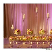 Reception, Flowers & Decor, pink, purple, Centerpieces, Lighting, Centerpiece