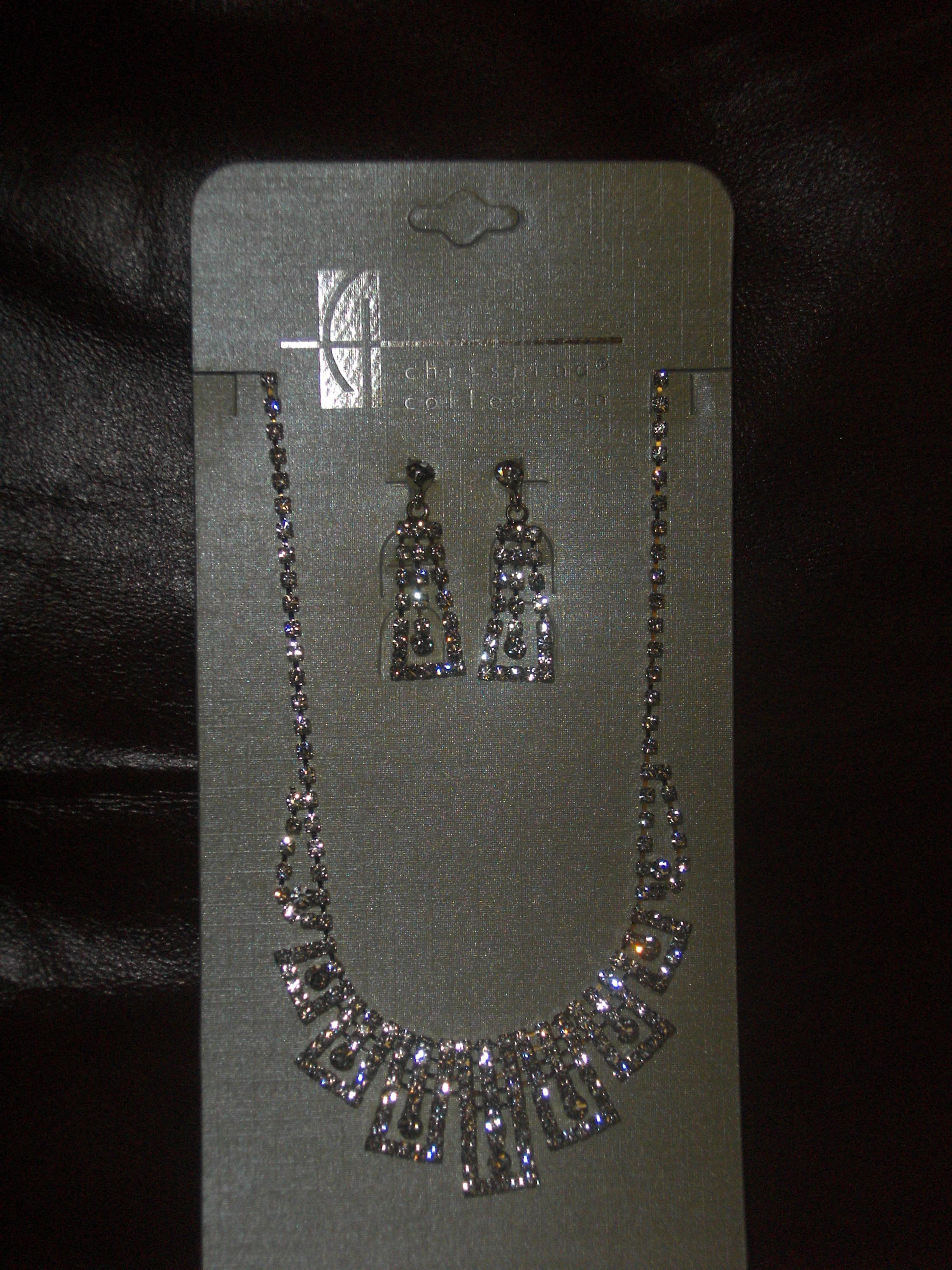 Jewelry, silver, Earrings, Crystal, W, Neclace