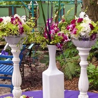 Reception, Flowers & Decor, white, purple, green, Flowers, llc, Wedding day bliss
