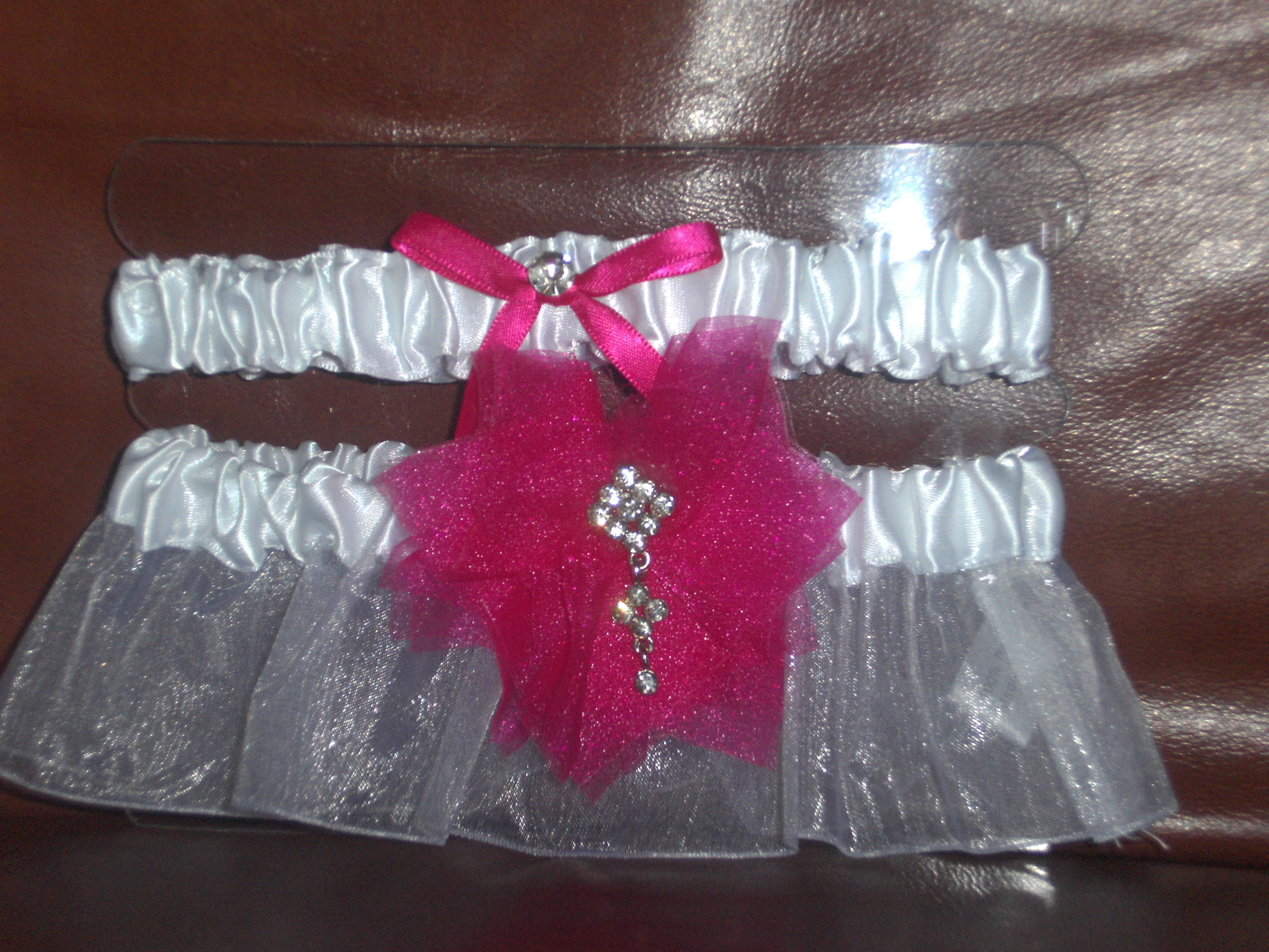 white, pink, Set, Bling, Garters, W