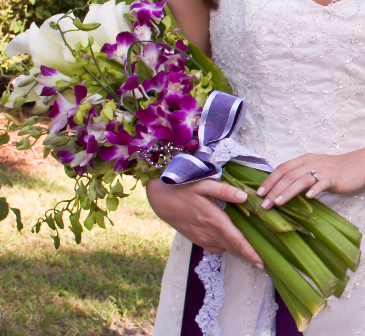 white, pink, purple, green, Bouquet, Calla, Orchids, Lily, llc, Arm, Wedding day bliss