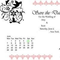 Stationery, pink, green, Invitations, The, Save, Date