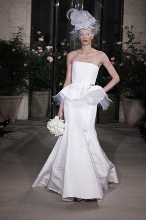 Wedding Dresses, Fashion, dress, La, De, Renta, Oscar, Peplum, Peplum Wedding Dresses