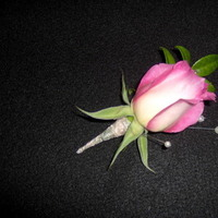 Ceremony, Reception, Flowers & Decor, Jewelry, white, pink, brown, black, silver, gold, Ceremony Flowers, Boutonnieres, Flowers, Boutonniere, Rocha floral design