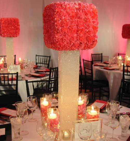 Reception, Flowers & Decor, pink, Centerpieces, Centerpiece, Contemporary