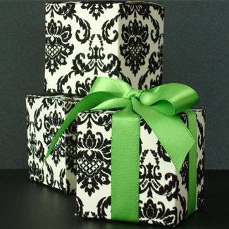Inspiration, Reception, Flowers & Decor, Favors & Gifts, white, black, favor, Favors, Board, Damask, Kits, Accent the party