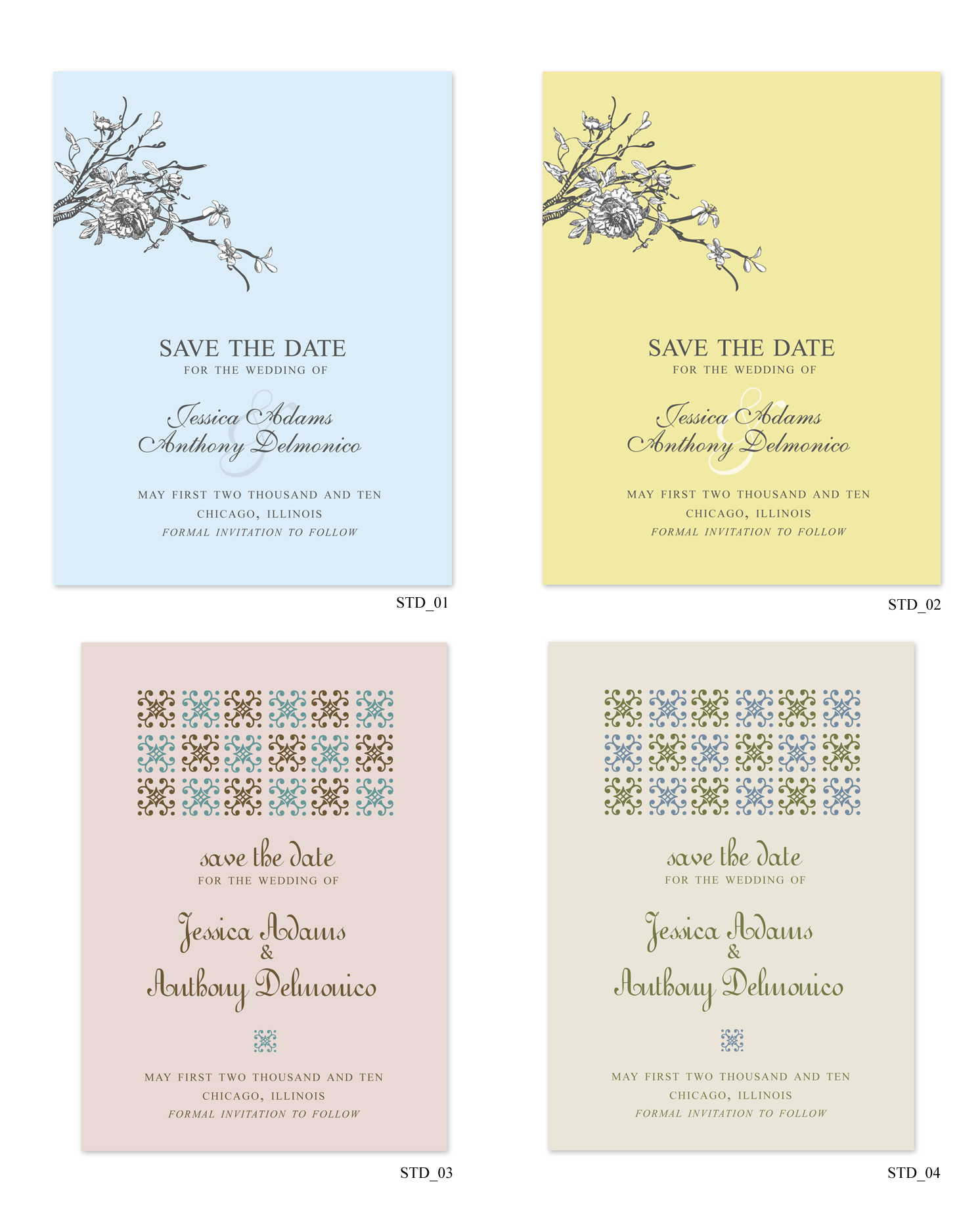 Monogram, Wedding, Custom, The, Ornate, Save, Date, Free, Std, Decorative