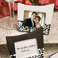 Reception, Flowers & Decor, Stationery, white, black, Place Cards, Placecards, Damask, Frames, Accent the party