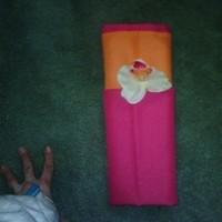 orange, pink